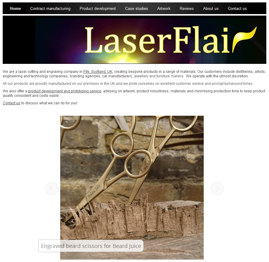 Laserflair engraving and laser cutting