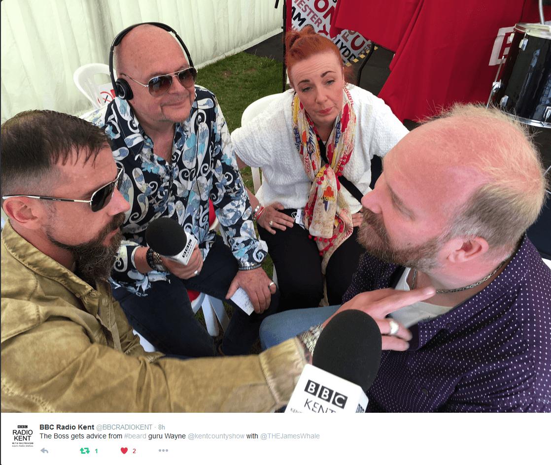 Beard Juice on BBC Radio Kent
