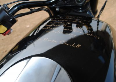 BMW K100 Cafe Racer Winston Churchill Quote