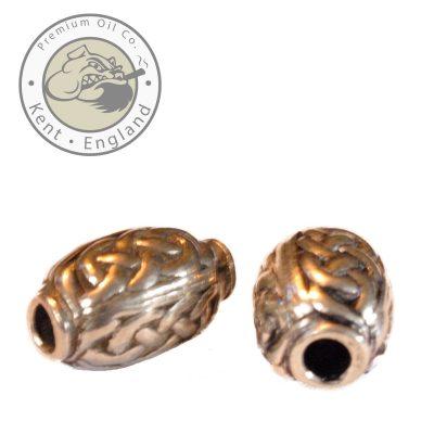 celtic oval beard bead